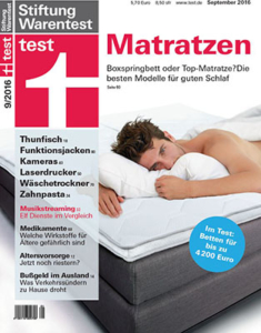 Stiftung Warentest Ausgabe 09/2016