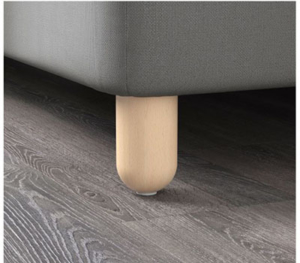 BATSFJORD Boxspringbett Beine weiß von IKEA
