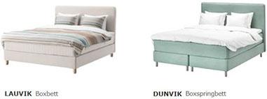 Unterschied zwischen einem IKEA Boxbett und Boxspringbett