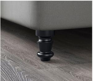 BRATTVAG Boxspringbett Beine schwarz von IKEA
